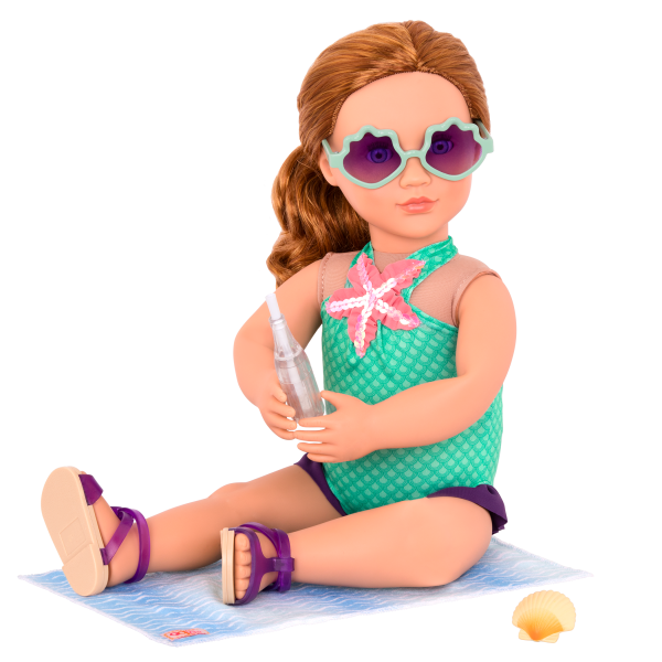 Marvelous Mermaid Outfit for 18-inch Dolls with Mienna and Accessories