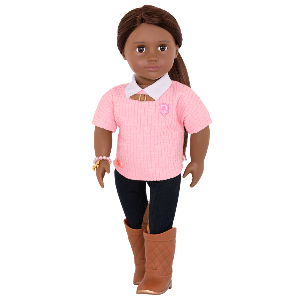 Cantering Couture Outfit for 18-inch Dolls with Bracelet
