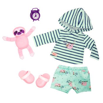 Deluxe Sleepy Sloth Outfit for 18-inch Dolls