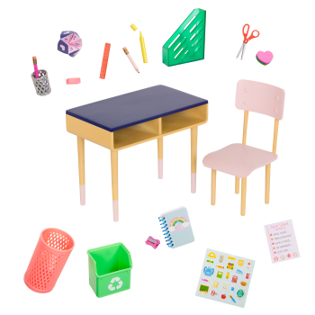 Brilliant Bureau Desk Set for 18-inch Dolls
