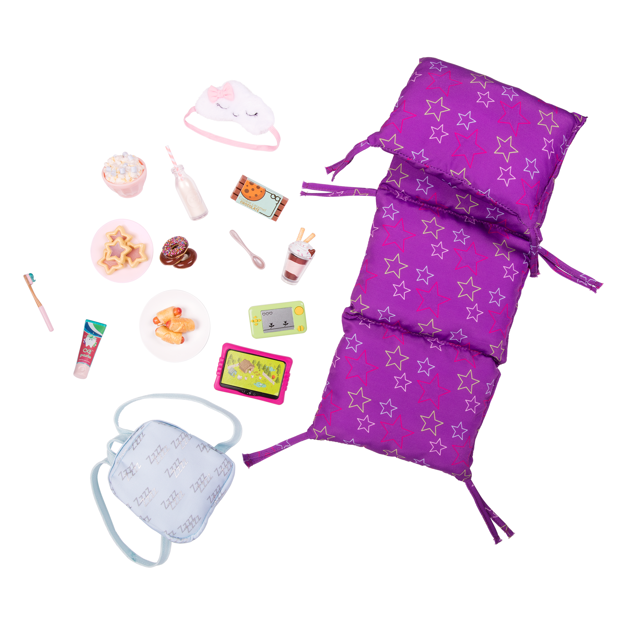 Slumber Delight Sleepover Set for 18-inch Dolls
