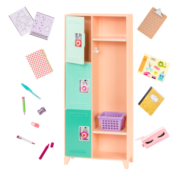 Classroom Cool Locker Set for 18-inch Dolls