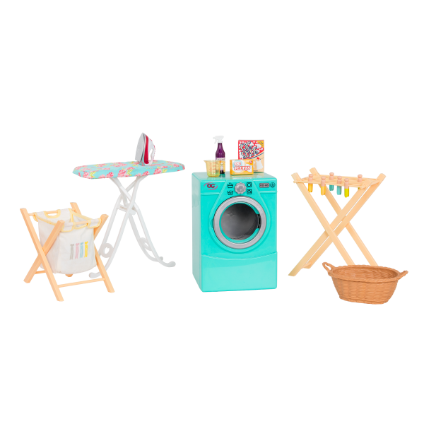 Tumble and Spin Laundry Set for 18-inch Dolls Accessories
