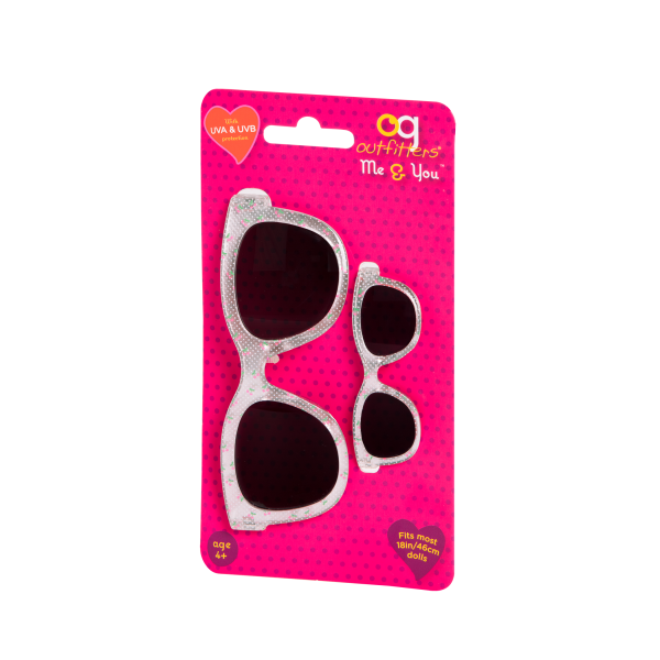 Me & You Cherry Printed Sunglasses for Kids and 18-inch Dolls Packaging
