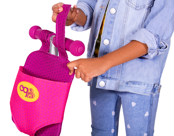 By My Side Scooter and Doll Carrier for Kids and 18-inch Dolls