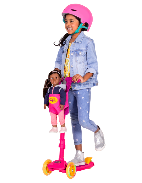 By My Side Scooter for Kids and 18-inch Dolls Kids Girls