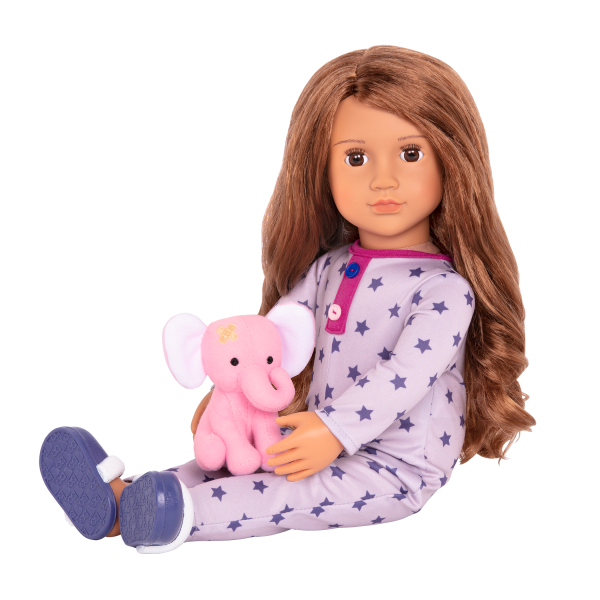 18-inch Sleepover Doll Maria with Pajama Outfit