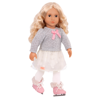 18-inch Ice Skating Doll Tess