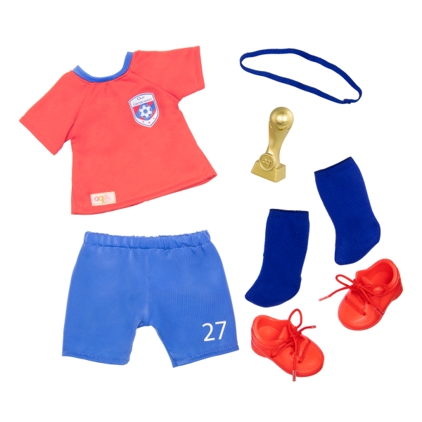 18-inch Soccer Player Doll Dina Blonde with Sports Outfit Clothes