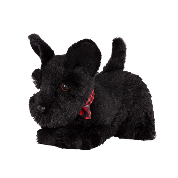6-inch Posable Scottish Terrier Pup with Movable Legs for 18-inch Dolls