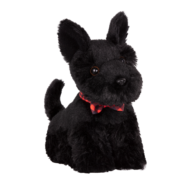 6-inch Posable Scottish Terrier Pup with Collar and Leash for 18-inch Dolls