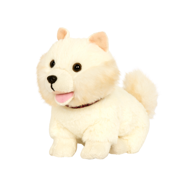 6-inch Posable Pomeranian Pup with Movable Legs Pets Loyal Pals for 18-inch Dolls
