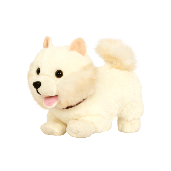 6-inch Posable Pomeranian Blonde Pup for 18-inch Dolls