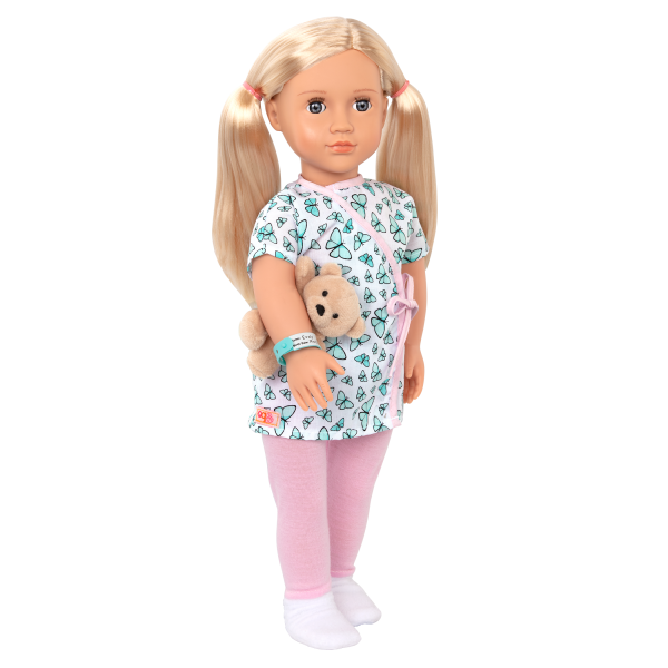 18-inch Hospital Doll Evely Blonde Doctor Play