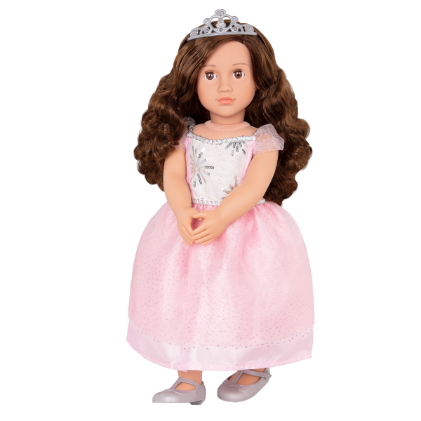 18-inch Doll Amina with Pink Dress Outfit Clothes Accessories