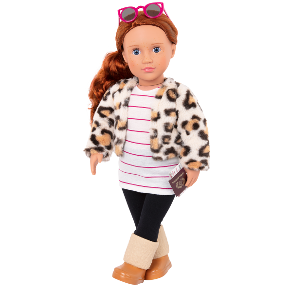 Travel Chic Fashion Outfit Clothes and Accessories for 18-inch Dolls