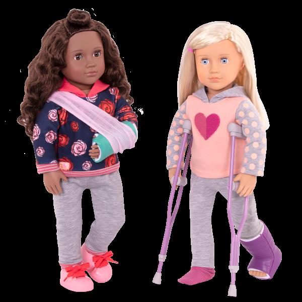 Martha Deluxe 18-inch Hospital Doll Keisha Posable Poseable