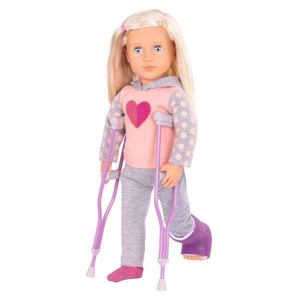 Martha Deluxe 18-inch Hospital Doll Crutches Accessories