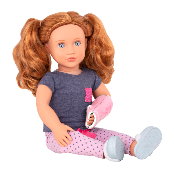 Healing in Pink Outfit Clothes Accessories Hospital Play for 18-inch Dolls