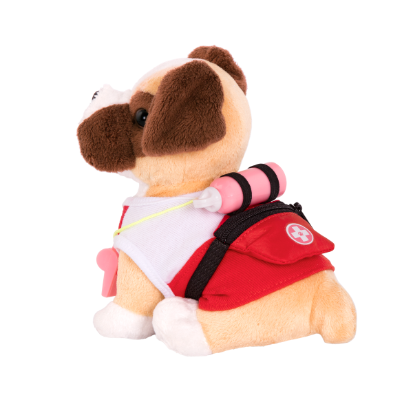 Loveable Lifeguard Beach Outfit for 6-inch Plush Dogs 18-inch Dolls Accessories Pets Clothes Garment