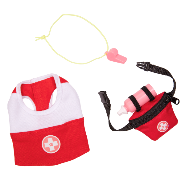 Loveable Lifeguard Beach Outfit for 6-inch Plush Dogs