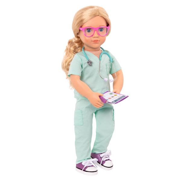 Deluxe Sweet Surgeon Outfit Clothes for 18-inch Dolls Doctor Medical Play
