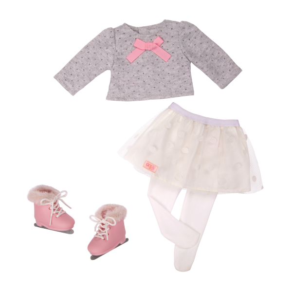 18-inch Ice Skating Doll Demi Clothes Outfit Accessories