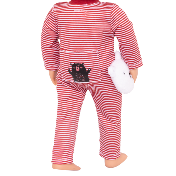 Bear-ly Tired Pajama Outfit Clothes Accessories Hot Chocolate Holiday Pyjama for 18-inch Dolls