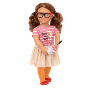 Deluxe Pizza Forever Fashion Outfit Clothes Accessories Skirt Glasses Play Food for 18-inch Dolls