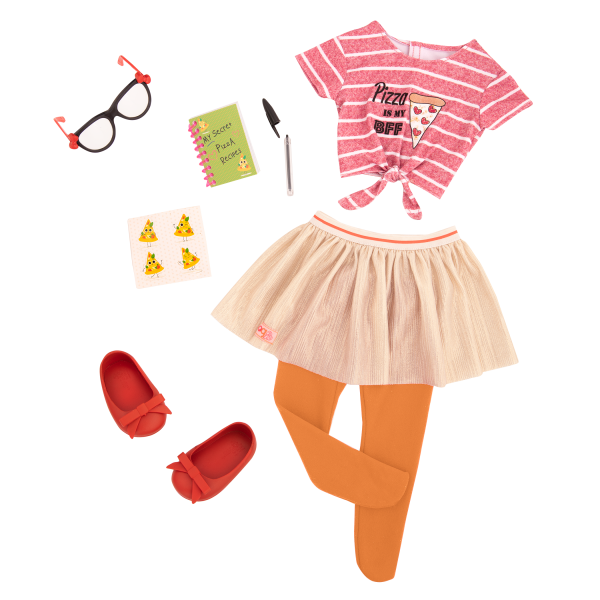Deluxe Pizza Forever Fashion Outfit for 18-inch Dolls