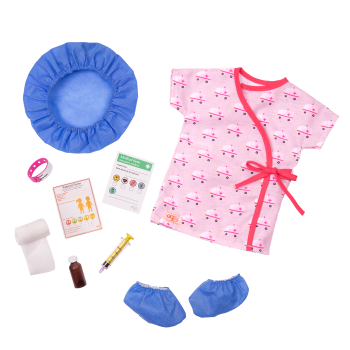 Hospital Stay Outfit for 18-inch Dolls