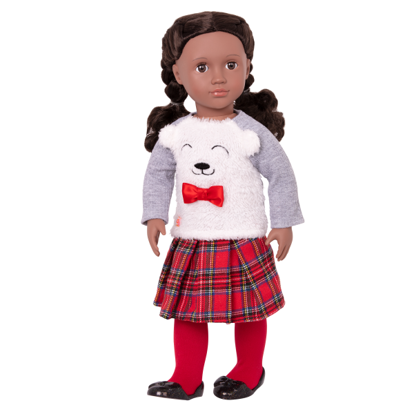 Bear-y Sweet Fashion Outfit Clothes Holiday Hot Chocolate Accessories for 18-inch Dolls