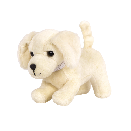 6-inch Posable Golden Retriever Pup Puppy Pet Movable Legs for 18-inch Dolls