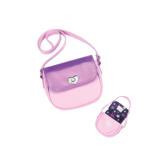 Me & You Holographic Purses for Kids & 18-inch Dolls