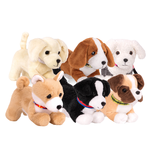 6-inch Posable Boxer Pup & Loyal Pal Collection for 18-inch Dolls