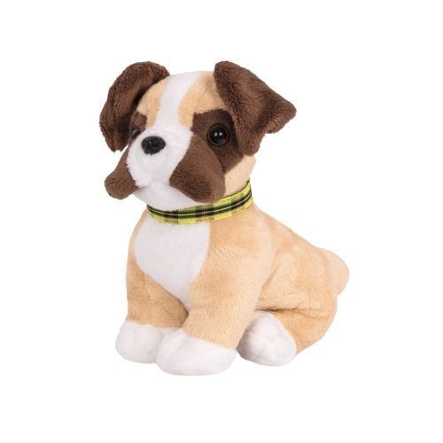 6-inch Posable Boxer Pup with Movable Legs for 18-inch Dolls