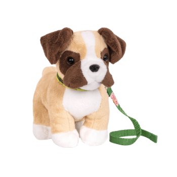 6-inch Posable Boxer Pup for 18-inch Dolls