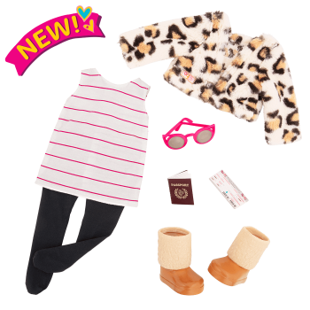 Travel Chic Fashion Outfit for 18-inch Dolls