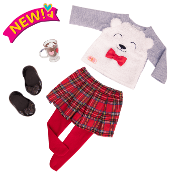 Bear-y Sweet Fashion Outfit for 18-inch Dolls