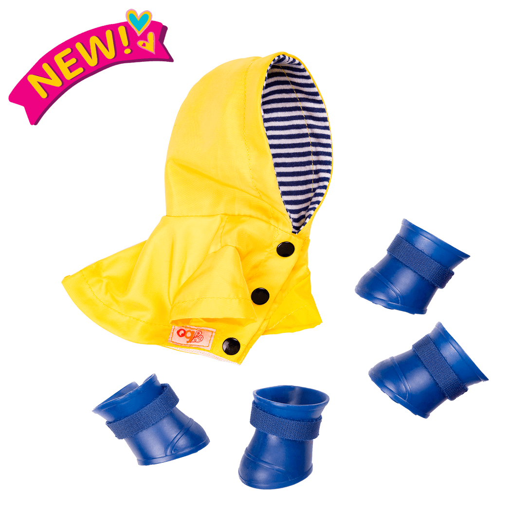 Paws N' Puddles Rainy Day Outfit for 6-inch Plush Dogs