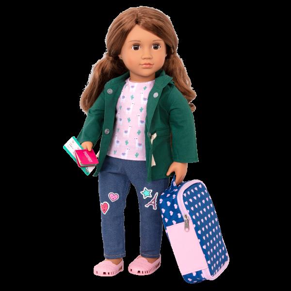 18-inch Doll Off We Go Travel & Luggage Pretend Play Set