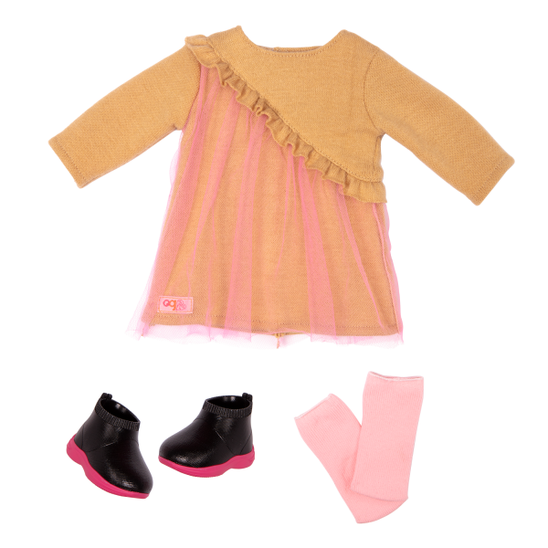 18-inch Hair Play Doll Bianca Sweater Dress Outfit