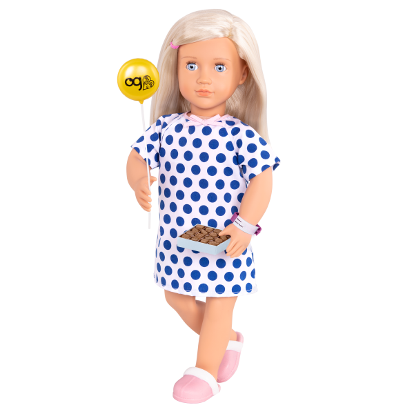 Comfy Recovery Hospital Set for 18-inch Dolls Martha Emoji Balloon