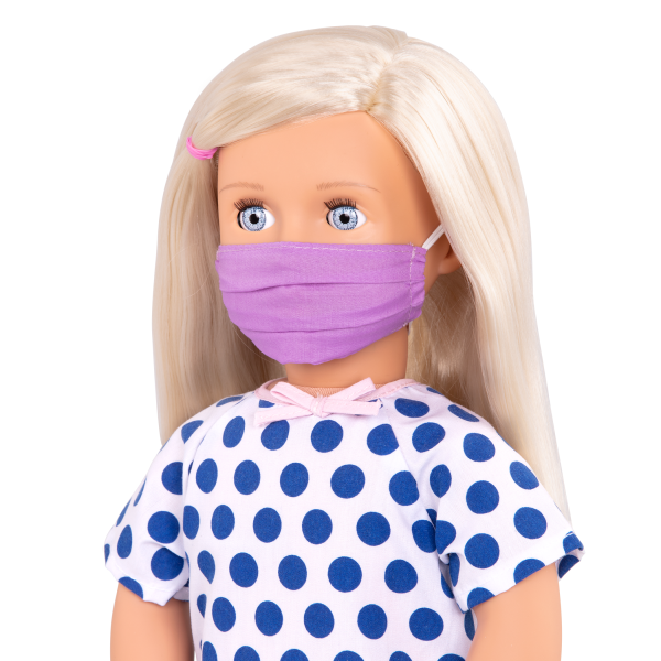 Comfy Recovery Hospital Set for 18-inch Dolls Martha Face Mask