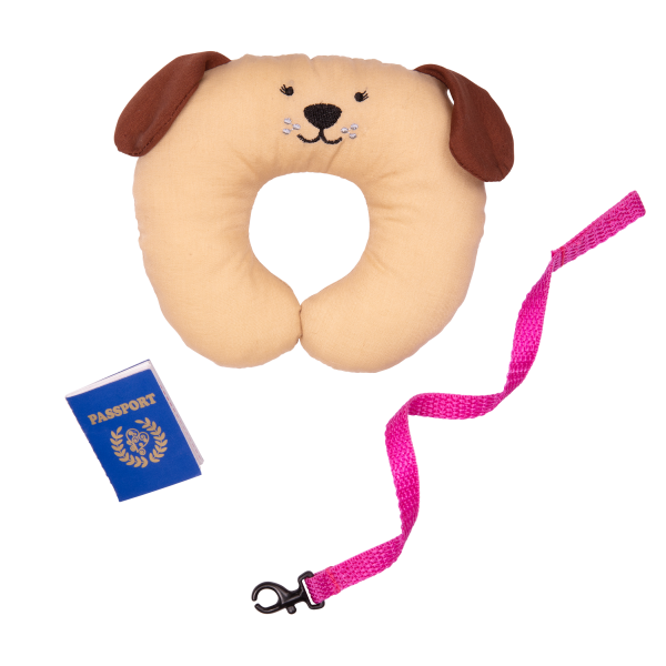 18-inch Doll and Pet Accessories Leash Pillow Passport