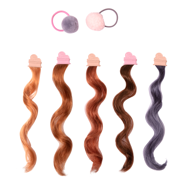 18-inch Doll Color Hair Accessories and Elastics