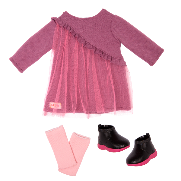 18-inch Hair Play Doll Bridget Sweater Dress Outfit