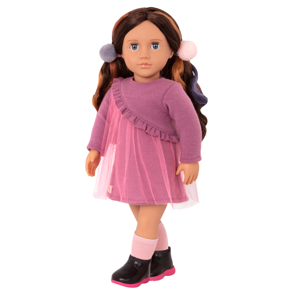 18-inch Hair Play Doll Bridget Brunette