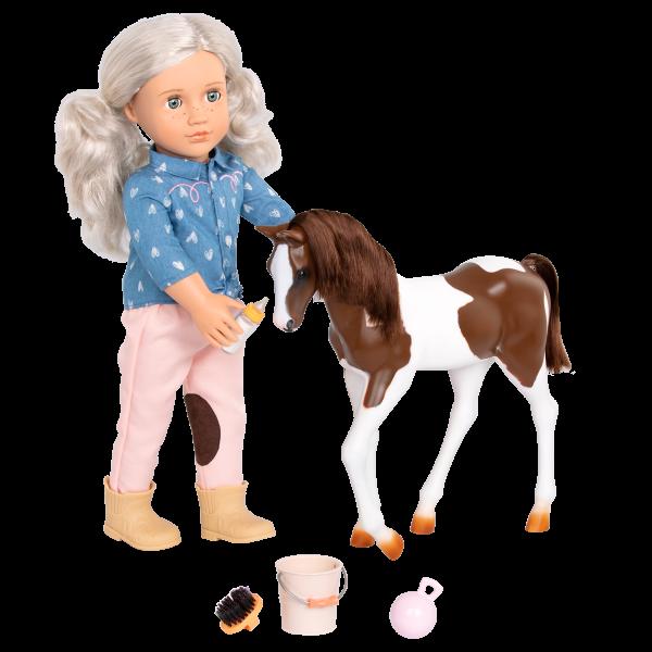 18-inch Equestrian Doll Yanira Blonde Horse Play