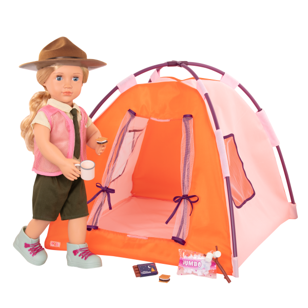 All Night Campsite 18-inch Doll Tent & Accessories